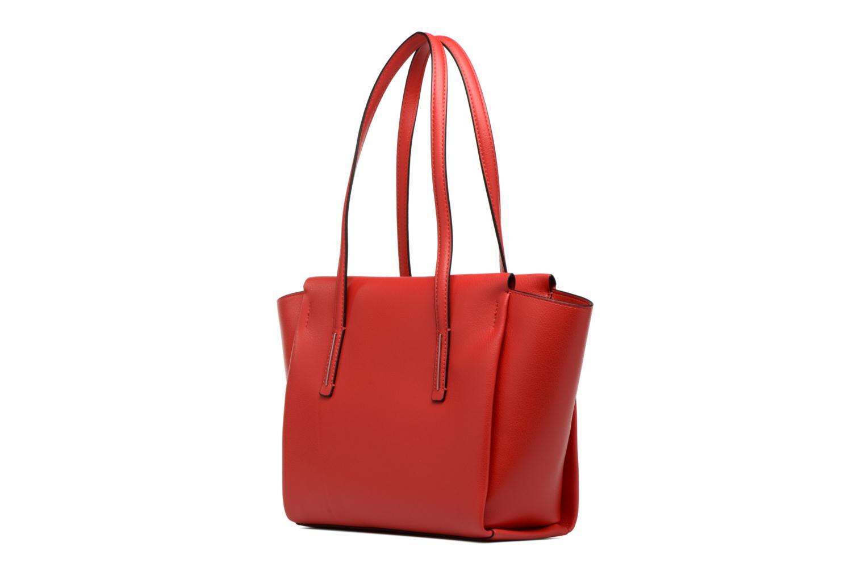 Handtaschen Calvin Klein Frame Medium Shopper rot ansicht von rechts