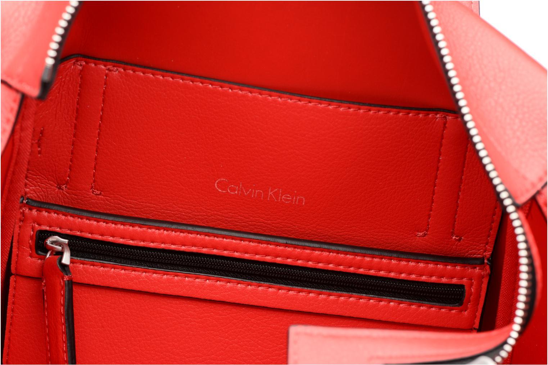 Handtaschen Calvin Klein Frame Medium Shopper rot ansicht von hinten