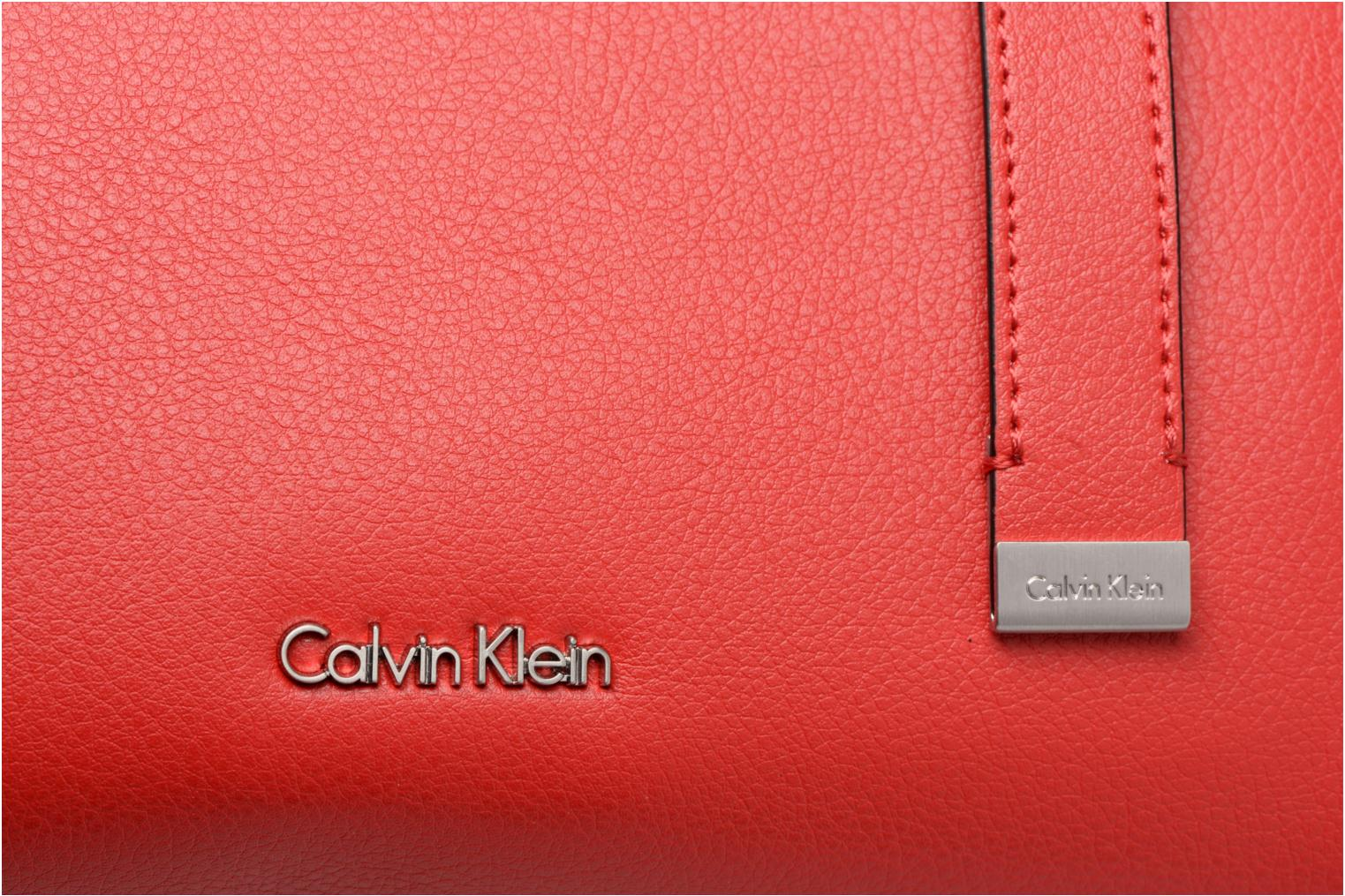Sacs à main Calvin Klein Frame Medium Shopper Rouge vue gauche