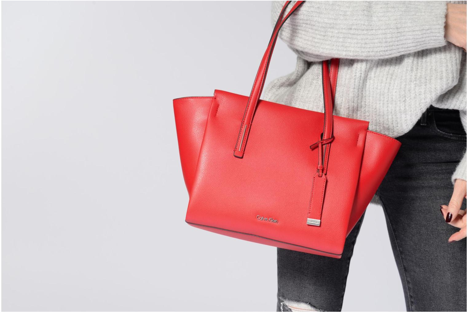 Sacs à main Calvin Klein Frame Medium Shopper Rouge vue haut