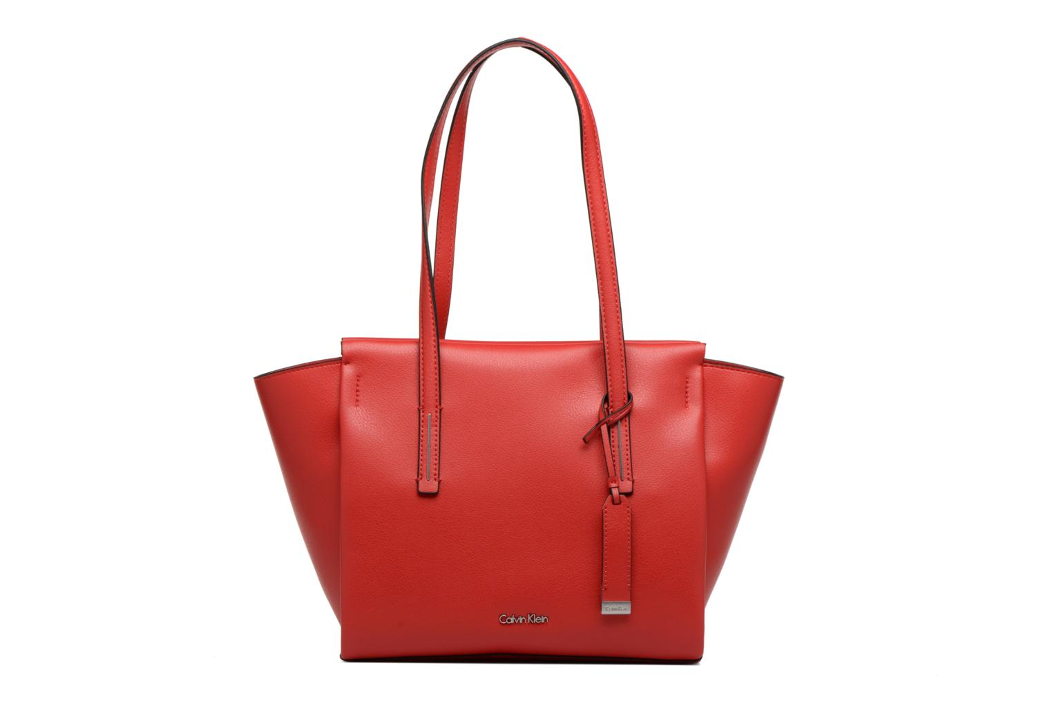 Sacs à main Calvin Klein Frame Medium Shopper Rouge vue détail/paire