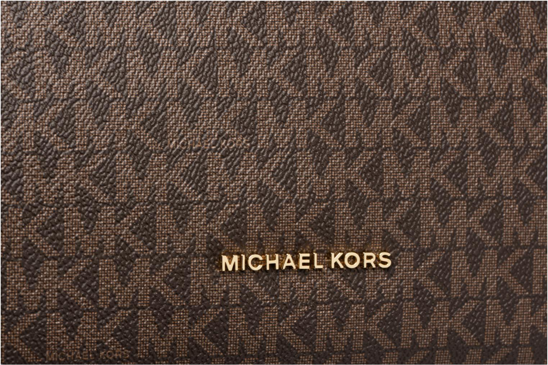 Borse Michael Michael Kors Lex LG CONV HOBO Marrone immagine sinistra