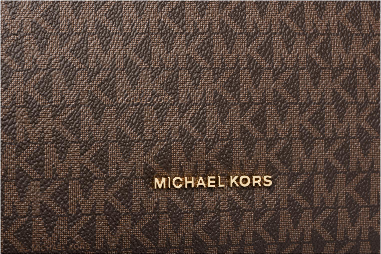 Bolsos de mano Michael Michael Kors Lex LG CONV HOBO Marrón vista lateral izquierda