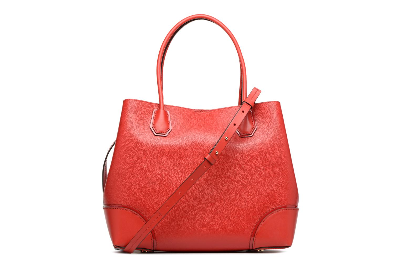 Bolsos de mano Michael Michael Kors Cabas Mercer Gallery LG CENTER ZIP TOTE Rojo vista de frente