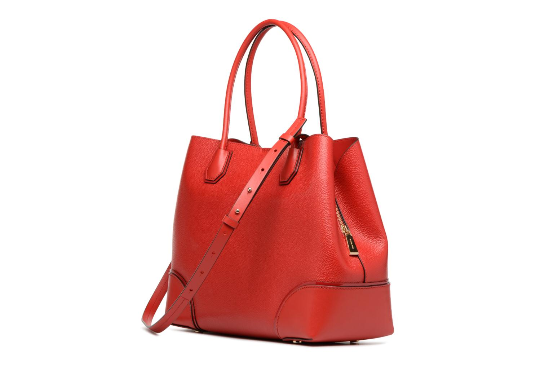 Bolsos de mano Michael Michael Kors Cabas Mercer Gallery LG CENTER ZIP TOTE Rojo vista lateral derecha