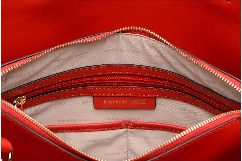 Borse Michael Michael Kors Cabas Mercer Gallery LG CENTER ZIP TOTE Rosso immagine posteriore