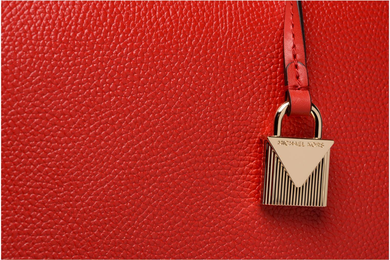 Bolsos de mano Michael Michael Kors Cabas Mercer Gallery LG CENTER ZIP TOTE Rojo vista lateral izquierda