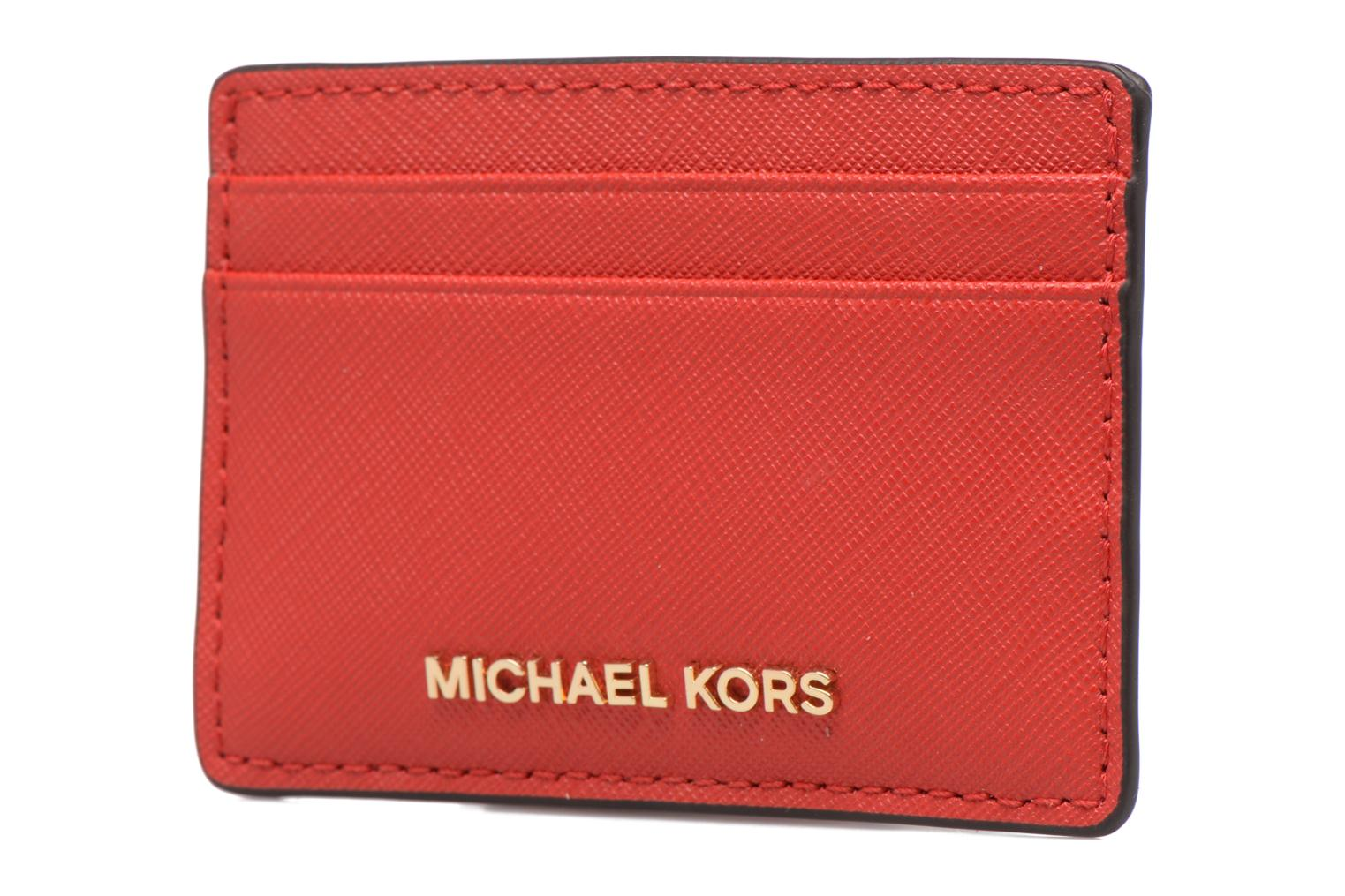 Marroquinería pequeña Michael Michael Kors Money Pieces Card Holder Rojo vista del modelo