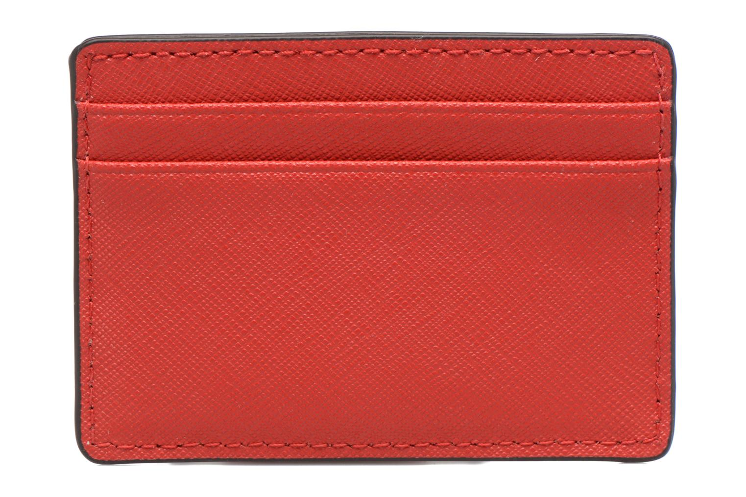 Marroquinería pequeña Michael Michael Kors Money Pieces Card Holder Rojo vista de frente