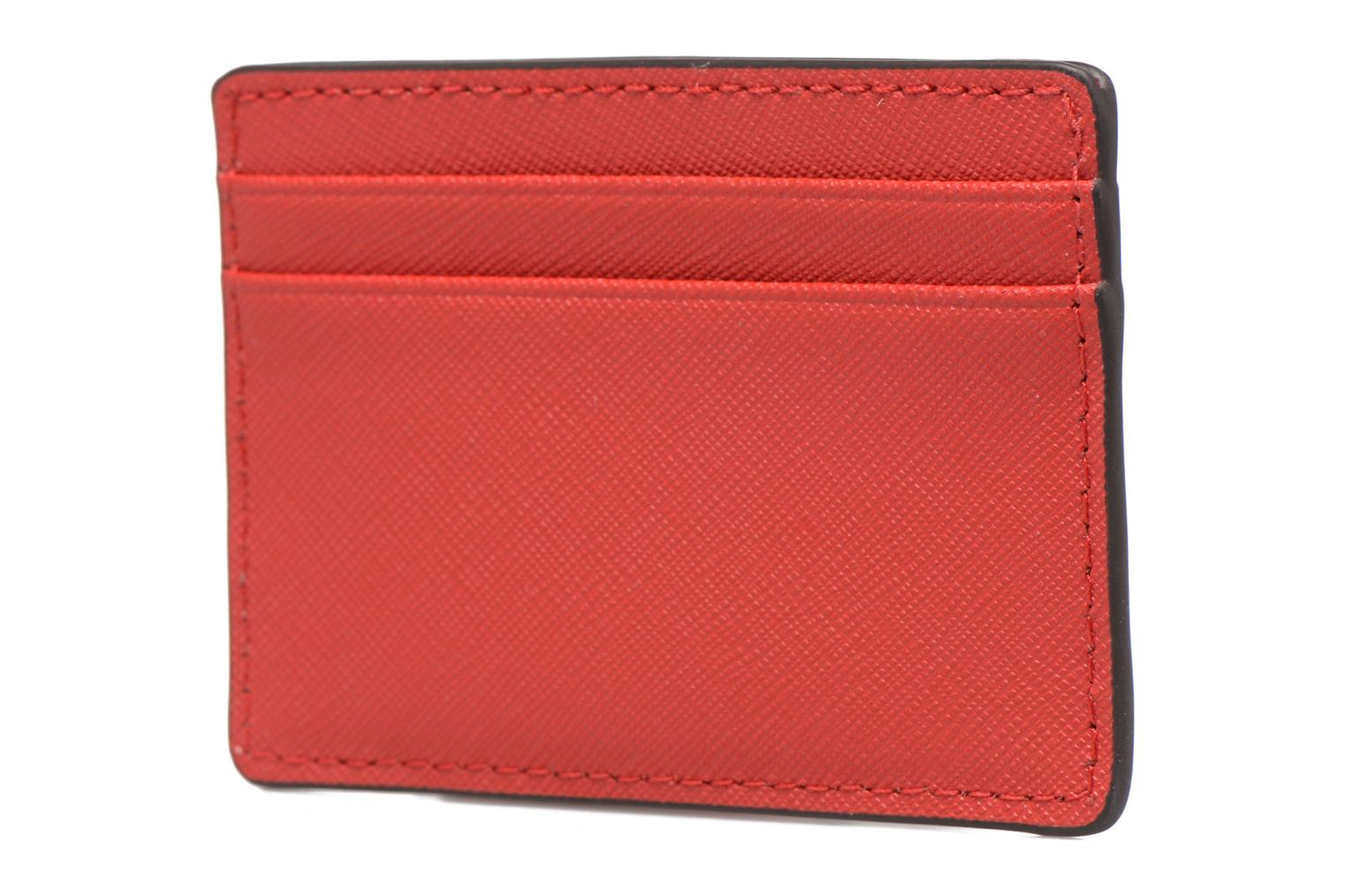 Marroquinería pequeña Michael Michael Kors Money Pieces Card Holder Rojo vista lateral derecha