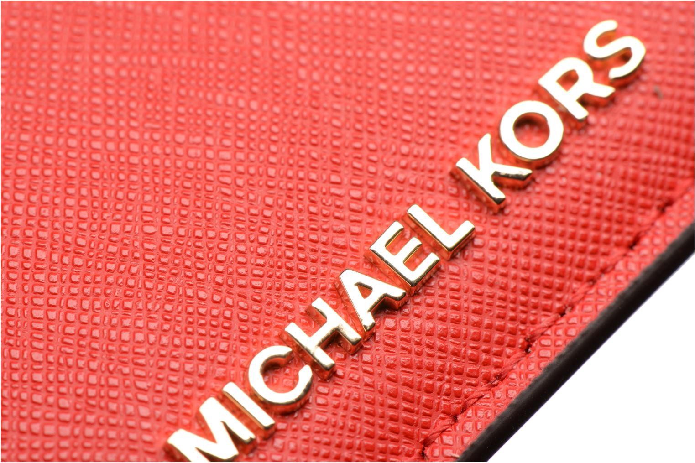 Marroquinería pequeña Michael Michael Kors Money Pieces Card Holder Rojo vista lateral izquierda