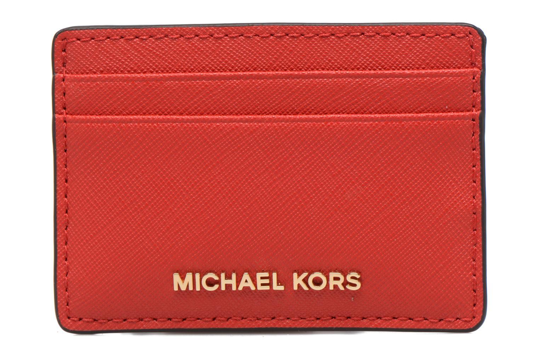 Marroquinería pequeña Michael Michael Kors Money Pieces Card Holder Rojo vista de detalle / par