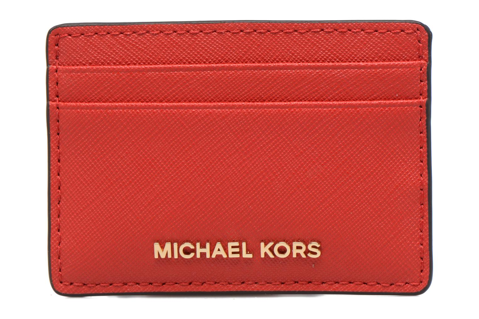 Marroquinería pequeña Michael Michael Kors Money Pieces Card Holder Rojo vista de detalle / par