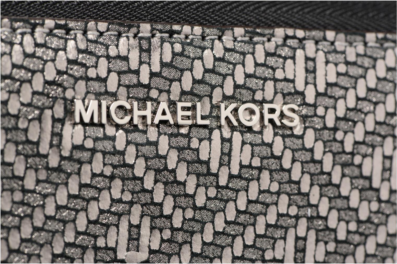Marroquinería pequeña Michael Michael Kors Money Pieces Travel continental Plateado vistra trasera