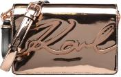 K Signature Gloss Shoulder Bag Metallic