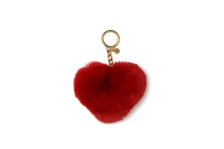 Marroquinería pequeña Michael Michael Kors Porte-clés CHARMS FUR HEART POM POM Rojo vista de detalle / par