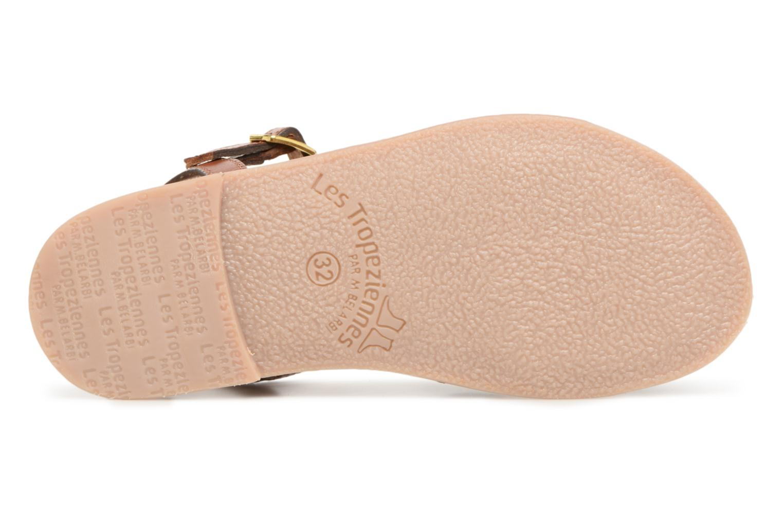 Sandales et nu-pieds Les Tropéziennes par M Belarbi Badami Marron vue haut