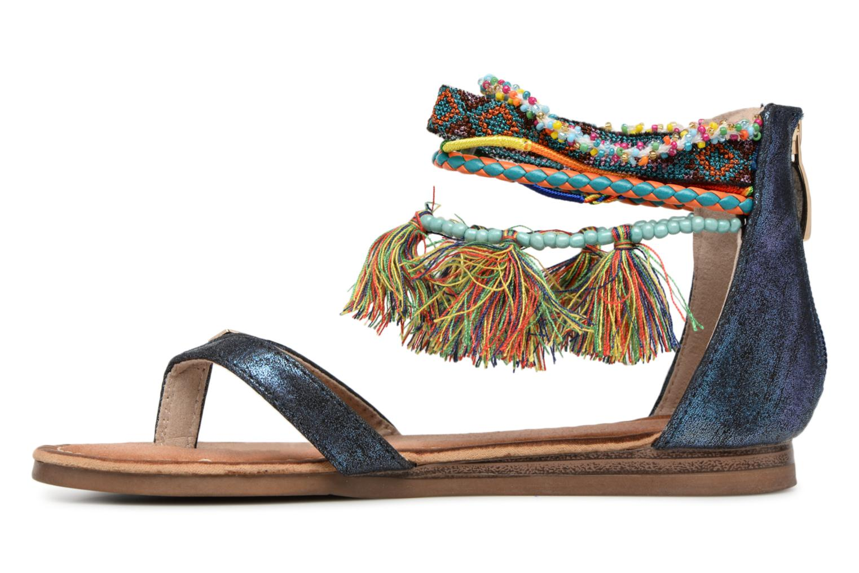 Sandales et nu-pieds Les Tropéziennes par M Belarbi Gringa Bleu vue face