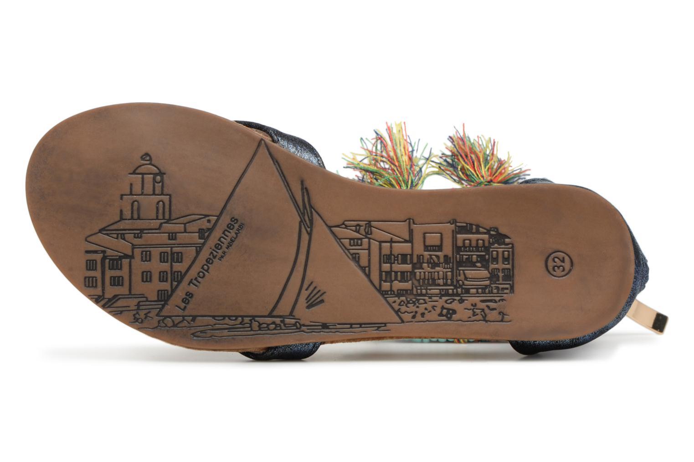 Sandales et nu-pieds Les Tropéziennes par M Belarbi Gringa Bleu vue haut