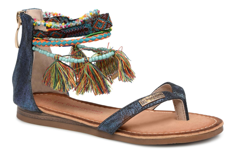 Sandales et nu-pieds Les Tropéziennes par M Belarbi Gringa Bleu vue détail/paire