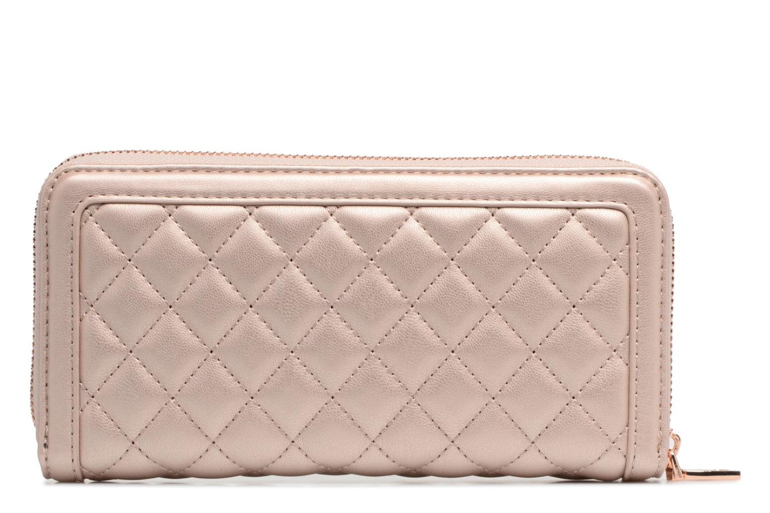 Pelletteria Love Moschino Portefeuille Super Quilted Rosa immagine frontale