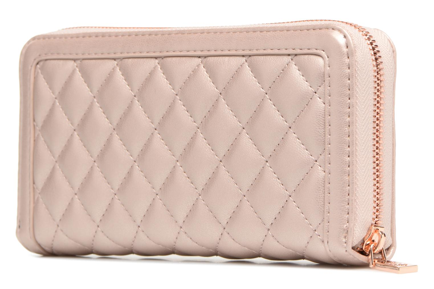 Pelletteria Love Moschino Portefeuille Super Quilted Argento immagine destra