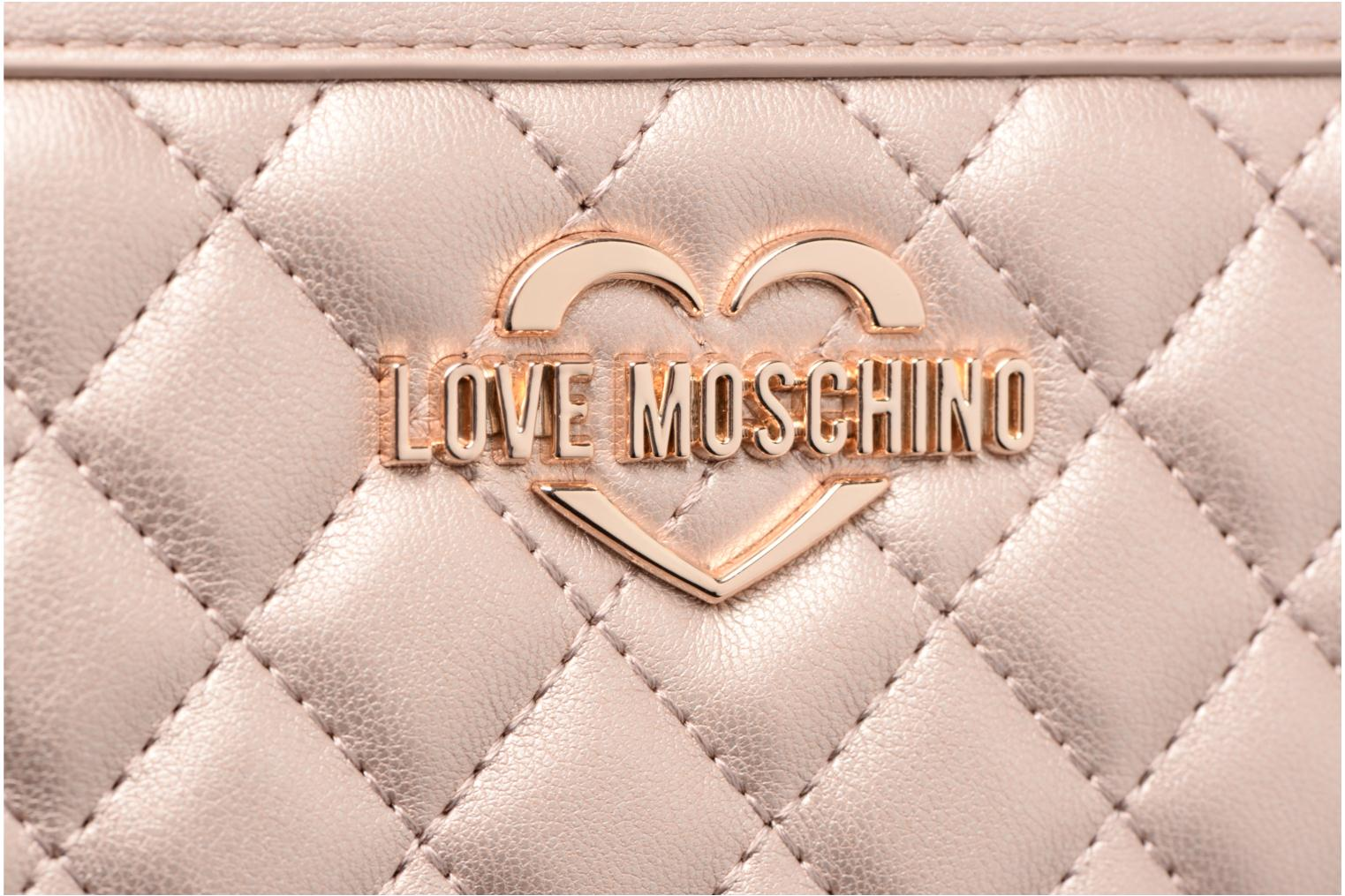 Pelletteria Love Moschino Portefeuille Super Quilted Argento immagine posteriore