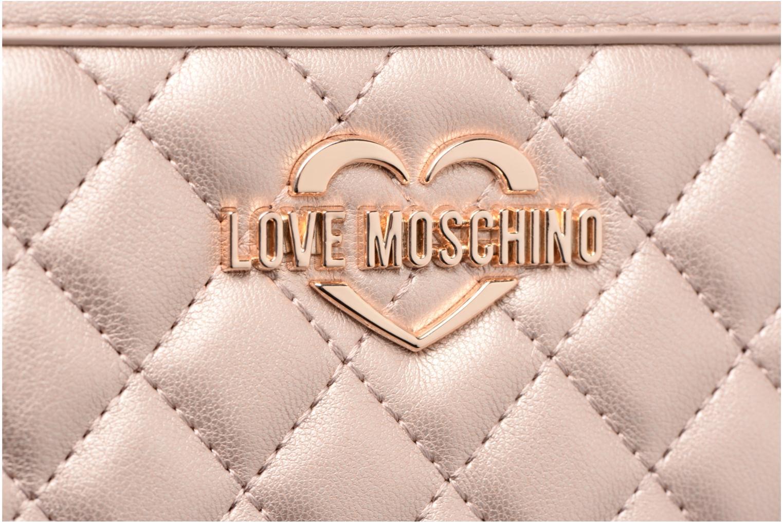Pelletteria Love Moschino Portefeuille Super Quilted Rosa immagine posteriore