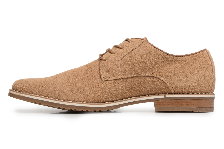 Veterschoenen I Love Shoes KERENS Leather Bruin voorkant