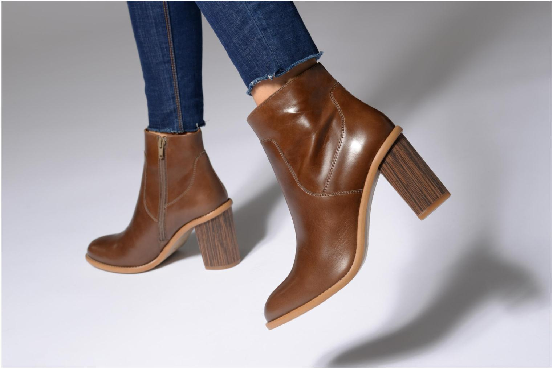 Bottines et boots Made by SARENZA Carioca Crew Boots #1 Marron vue bas / vue portée sac