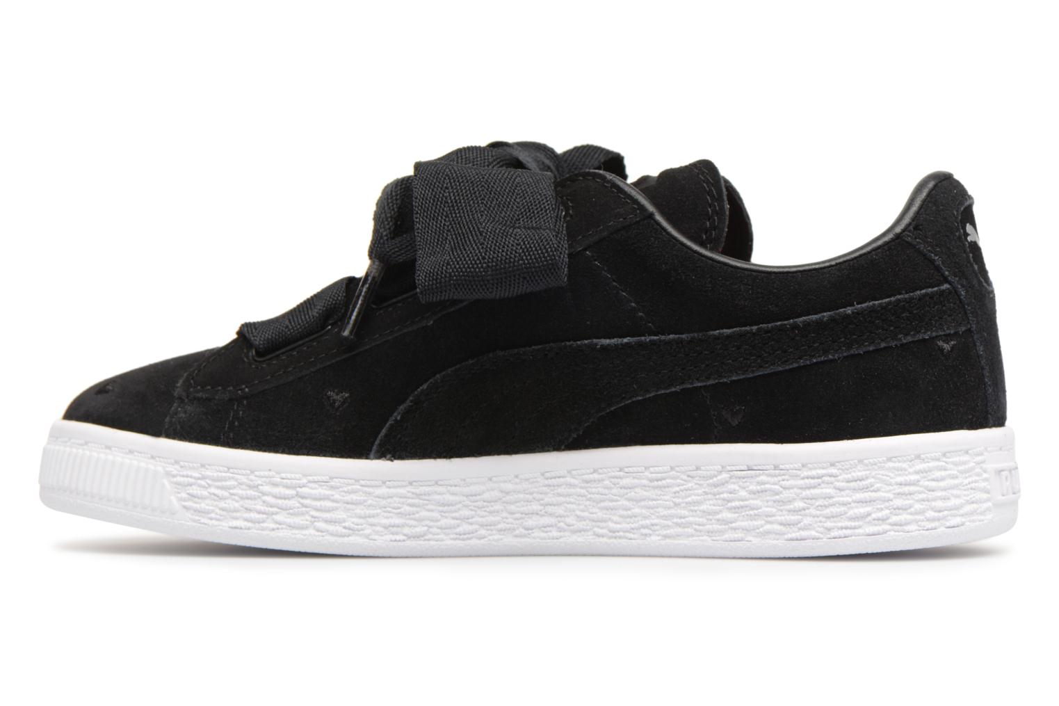 Trainers Puma Suede Heart Valentine Black front view