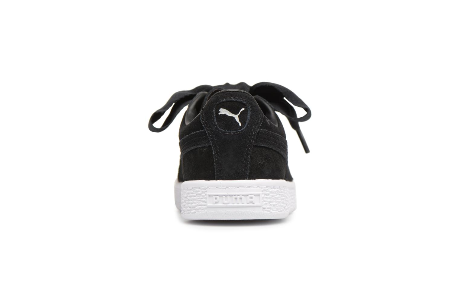 Trainers Puma Suede Heart Valentine Black view from the right