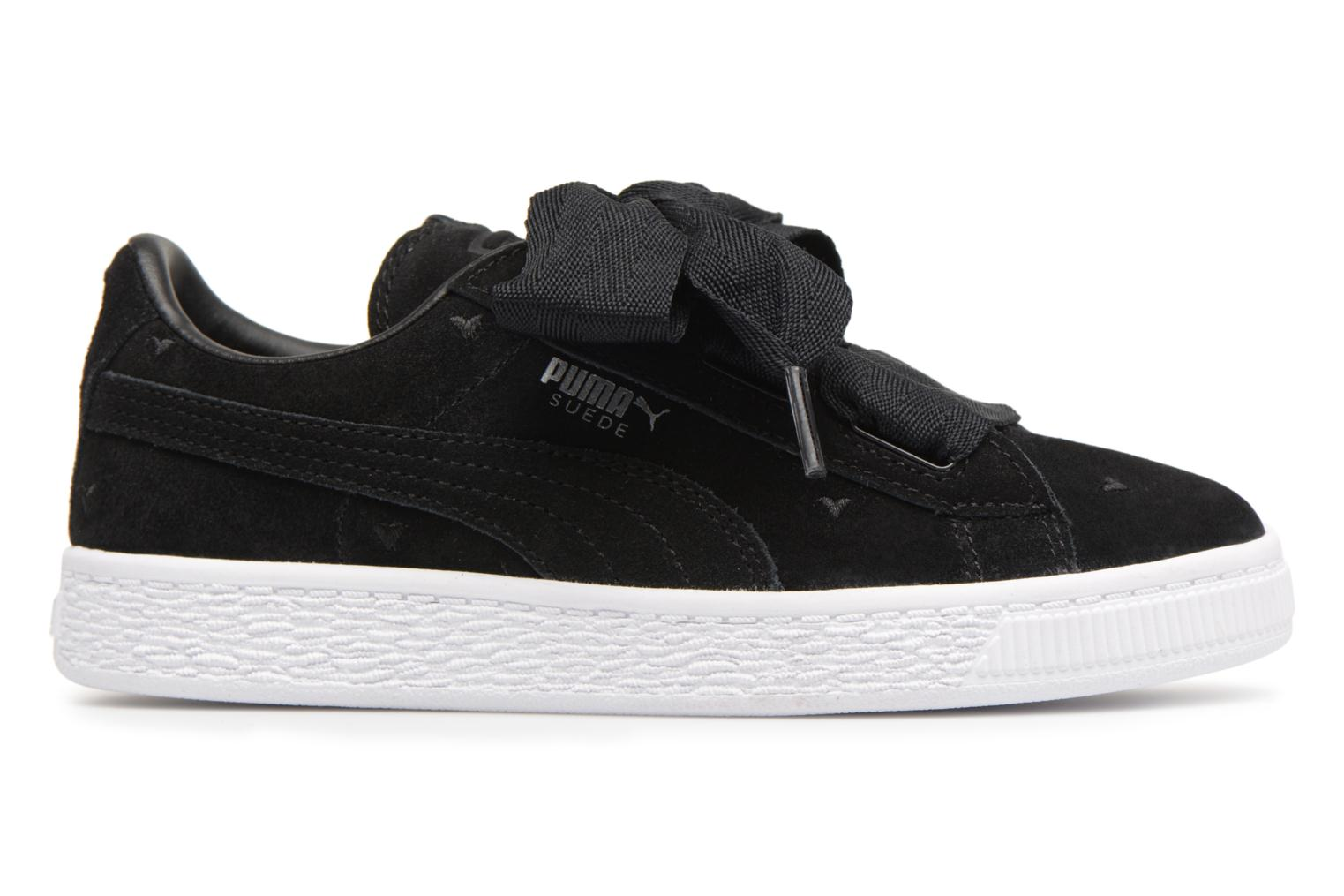 Trainers Puma Suede Heart Valentine Black back view