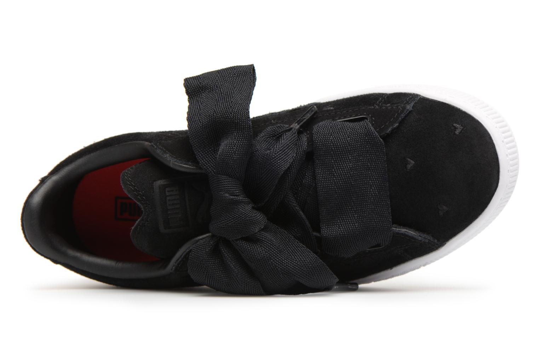 Baskets Puma Suede Heart Valentine Noir vue gauche