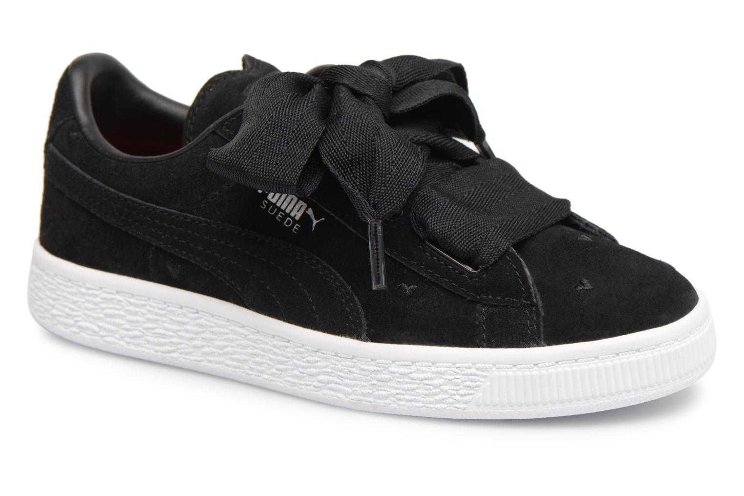Trainers Puma Suede Heart Valentine Black detailed view/ Pair view