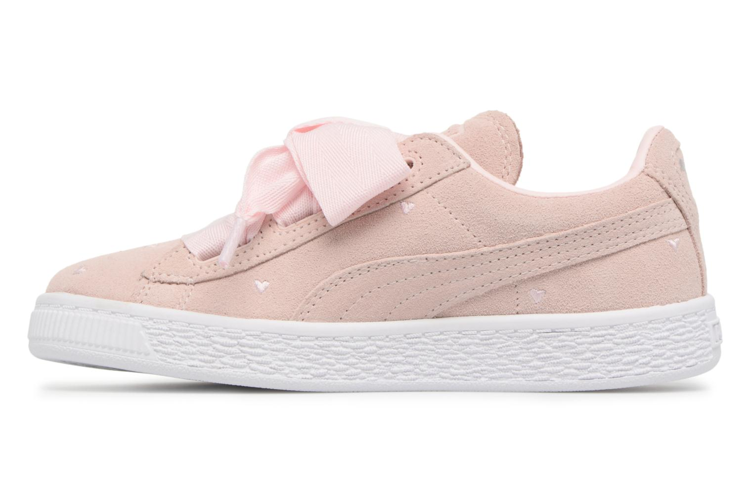 Suede Heart Valentine Pearl/Pearl