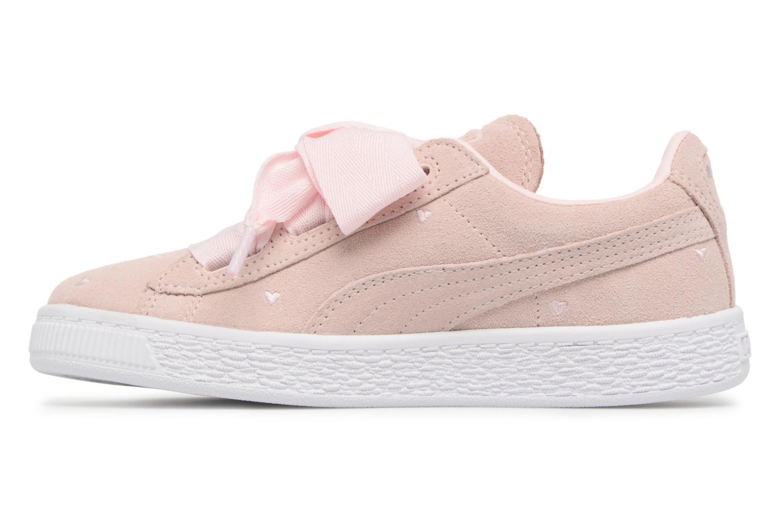 Sneakers Puma Suede Heart Valentine Rosa bild från framsidan