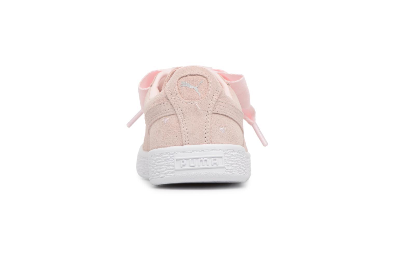 Sneakers Puma Suede Heart Valentine Rosa Bild från höger sidan