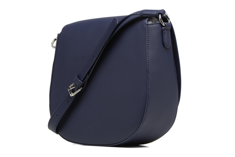 Handtassen Lacoste ROUND CROSSOVER BAG Blauw rechts