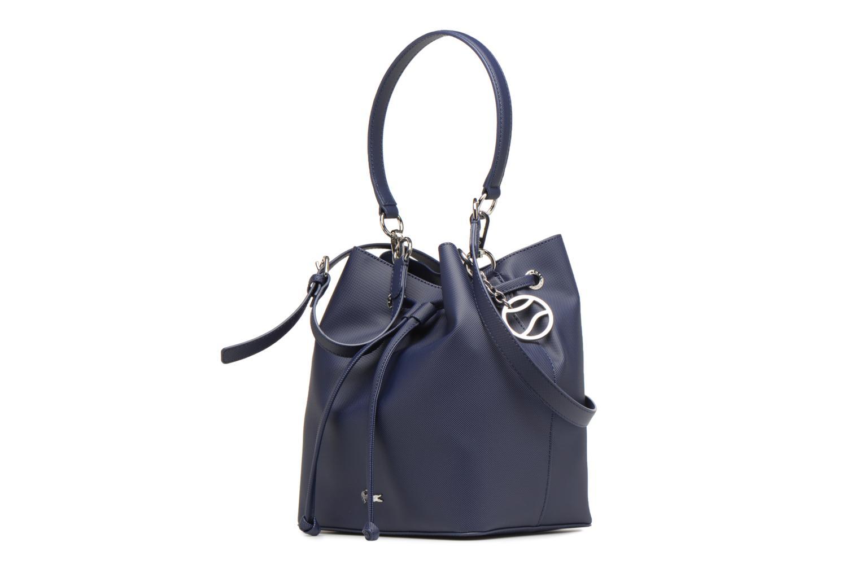 Sacs à main Lacoste BUCKET BAG Bleu vue portées chaussures
