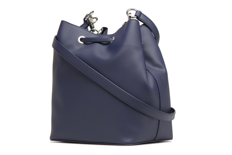 Sacs à main Lacoste BUCKET BAG Bleu vue droite