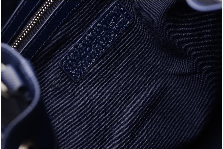 Sacs à main Lacoste BUCKET BAG Bleu vue derrière