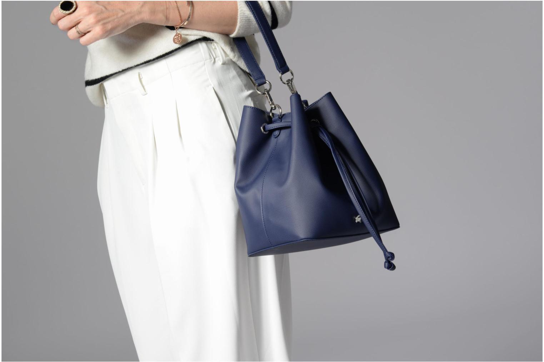 Sacs à main Lacoste BUCKET BAG Bleu vue haut