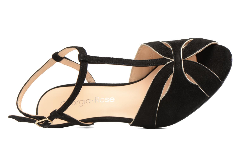 Sandales et nu-pieds Georgia Rose Etcera Noir vue gauche
