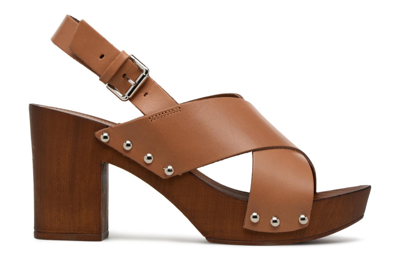 Sandales et nu-pieds Georgia Rose Doclou Marron vue derrière
