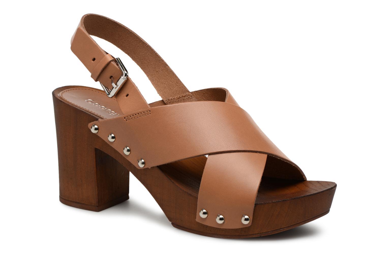 Sandales et nu-pieds Georgia Rose Doclou Marron vue détail/paire