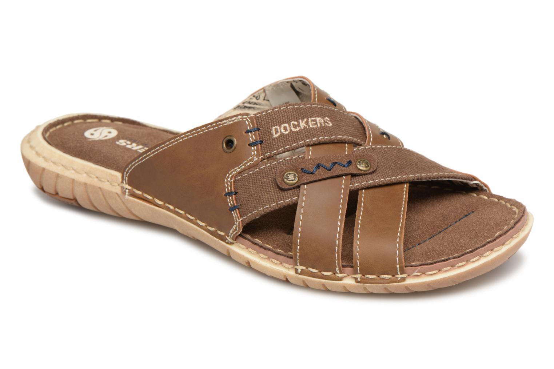 Sandals Dockers Ribin Brown detailed view/ Pair view