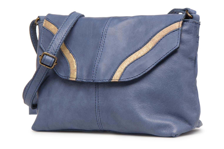 Sacs à main Pieces Imsa Leather Crossbody Bleu vue portées chaussures