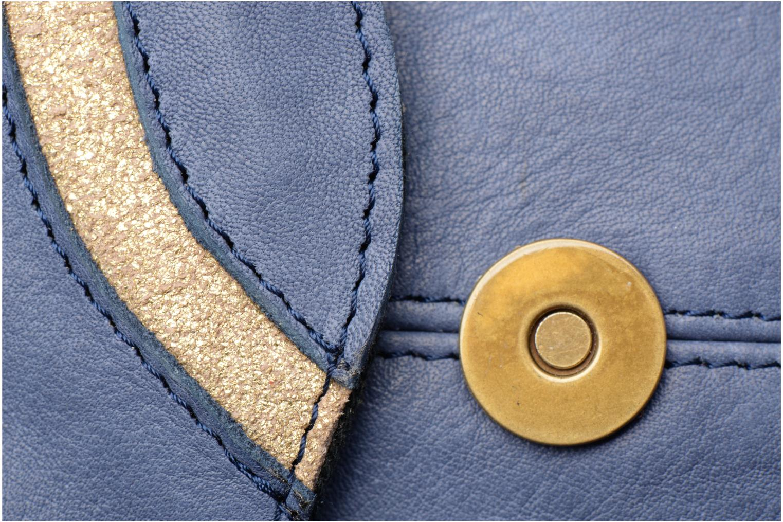 Sacs à main Pieces Imsa Leather Crossbody Bleu vue gauche