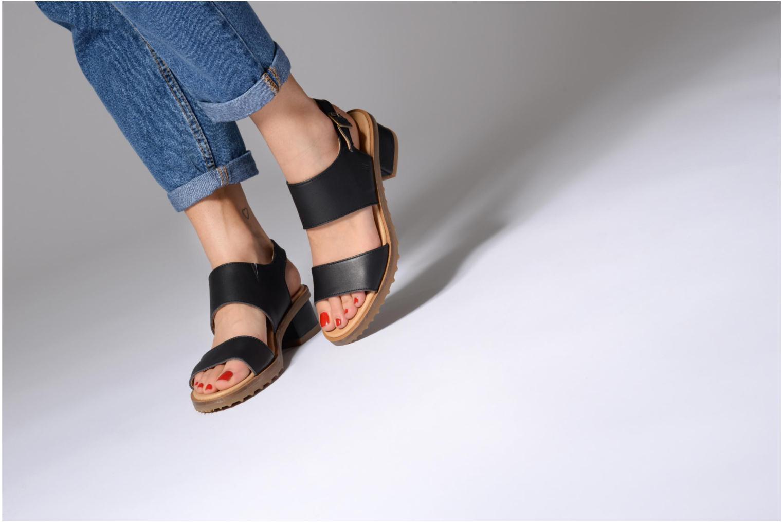 Sandales et nu-pieds El Naturalista Sabal N5010 Jaune vue bas / vue portée sac